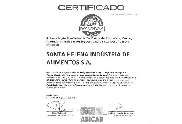 Institucional / Nossa certificados